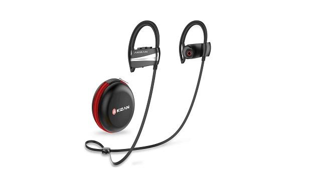 AKIZAN Bluetooth Headphones, Waterproof Wireless Earbuds wMic In-Ear Buds