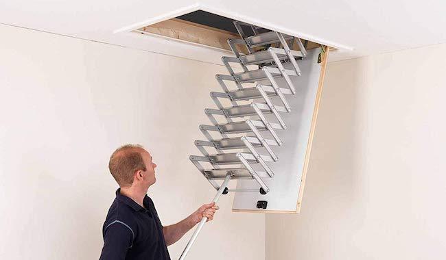 Alufix 9-Tread Concertina Loft Ladders