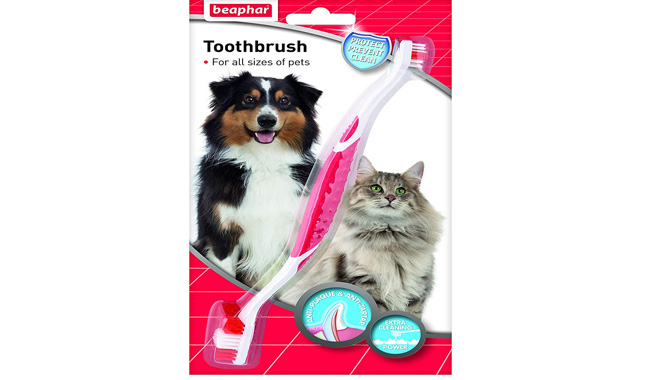 Beaphar Two Ended Dog or Cat Toothbrush
