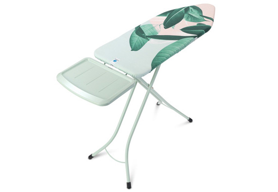 Brabantia Tropical Leaves Ironing Board with Solid Steam Unit Holder Premium