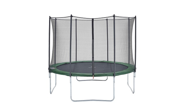 CZON SPORTS Trampoline, 8ft-14ft outdoor with safety enclosure net, green
