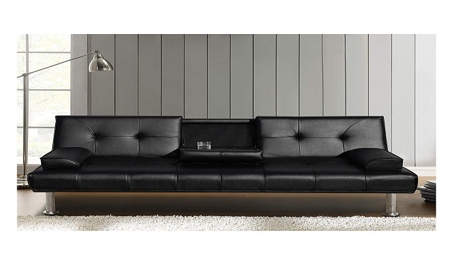 Cherry Tree Furniture Black ACRUX 3-Seater Sofa Bed