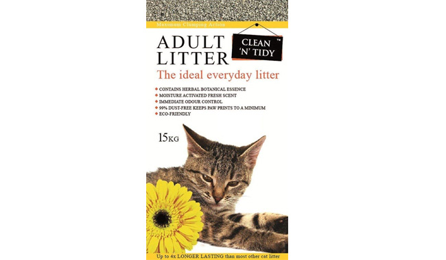 Clean and tidy cat litter