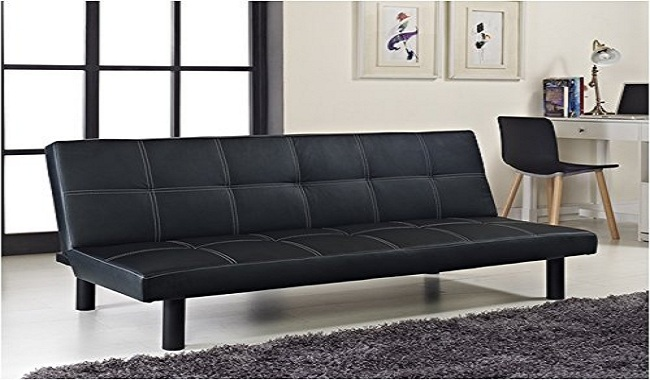 Comfy Living Single Faux Leather Sofa Bed