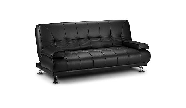 D&G Sofas VENICE CLICK CLACK FAUX LEATHER SOFA BED