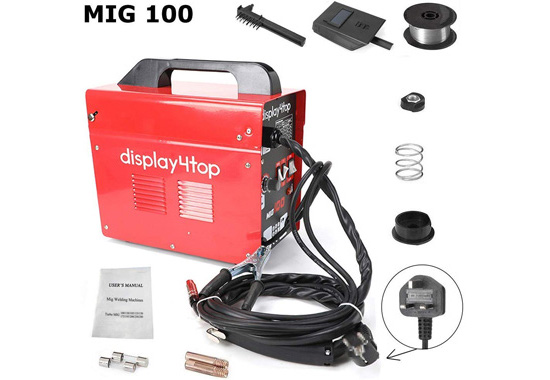 Display4top Professional Mig 130 Welder Gasless 230V Val