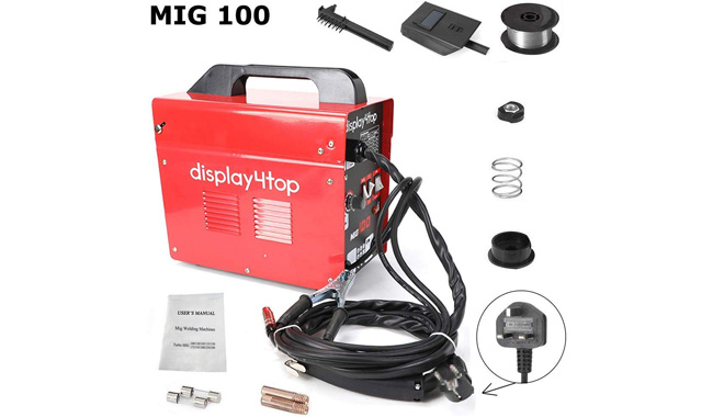 Display4top Professional Mig 130 Welder Gasless 230V