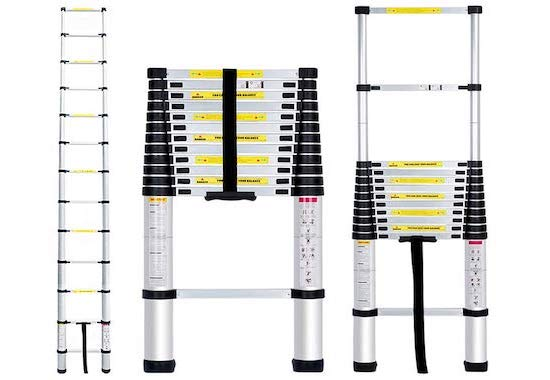 Finether 3.8M Aluminium Telescopic Loft Ladder Value