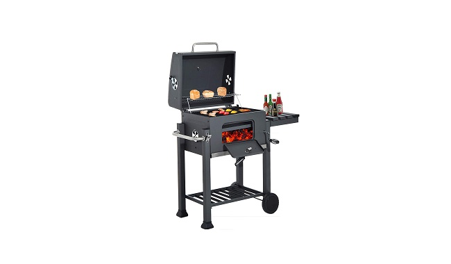 HomeZone® Large Premium BBQ Charcoal Smoker
