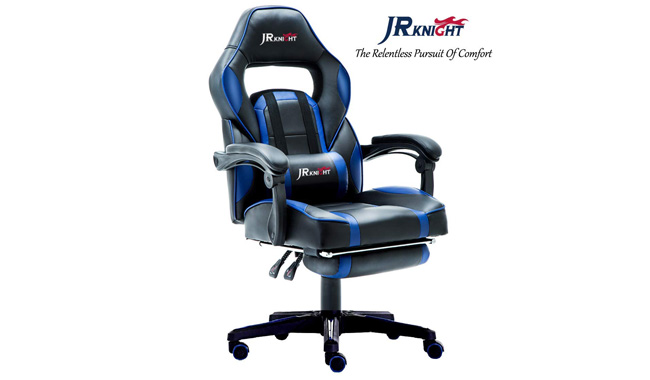 JR Knight LC-04BKBL Ergonomic Gaming Chair