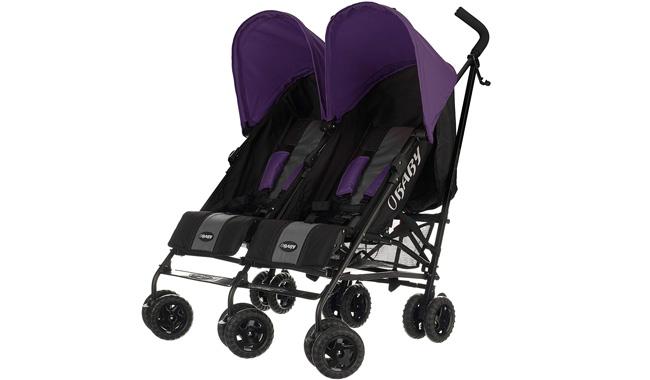 Obaby Apollo Black & Grey Twin Stroller