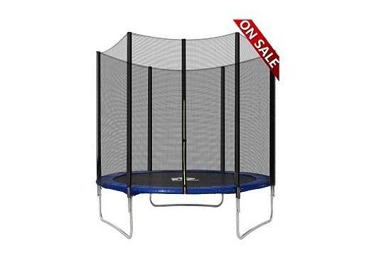Rocket Bunny Trampoline With Safety Enclosure Netting And Ladder Jumping Mat