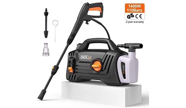 TACKLIFE Pressure Washer, 1400W, Portable High-Pressure Cleaner