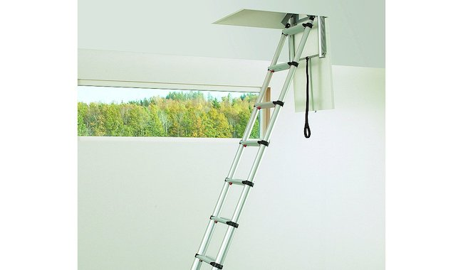Telesteps Silver Mini Telescopic Loft Ladder