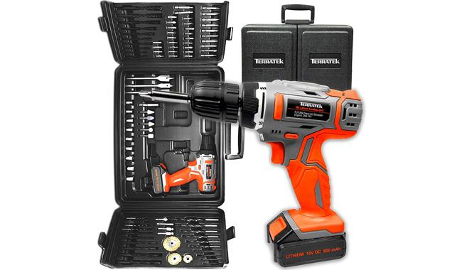 Terratek 89pc Cordless Drill Driver Kit