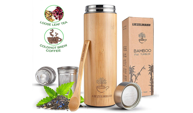 Bamboo Thermos Flask