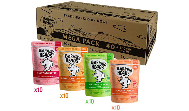 Barking Heads Wet Dog Food Pouches Mega Variety Pack