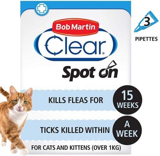 Bob Martin Flea And Tick Clear Fipronil Cat Spot On