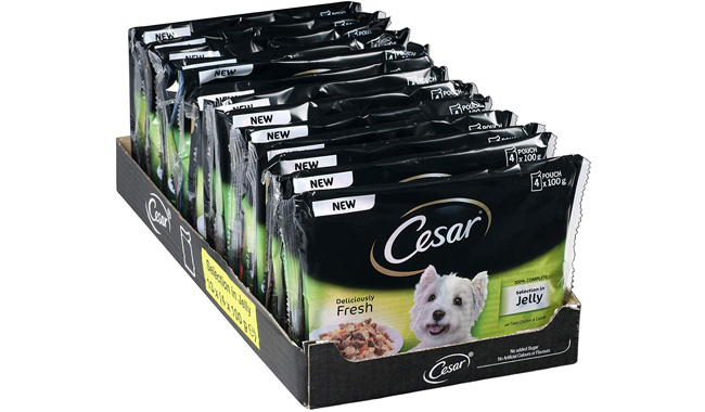 Cesar Deliciously Fresh, Wet Dog Food for Adult Dogs