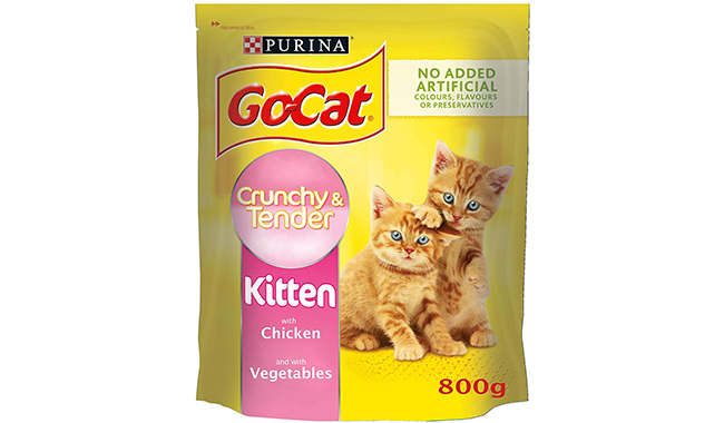 Go-Cat Crunchy and Tender Dry Kitten Food with Chicken and Vegetables