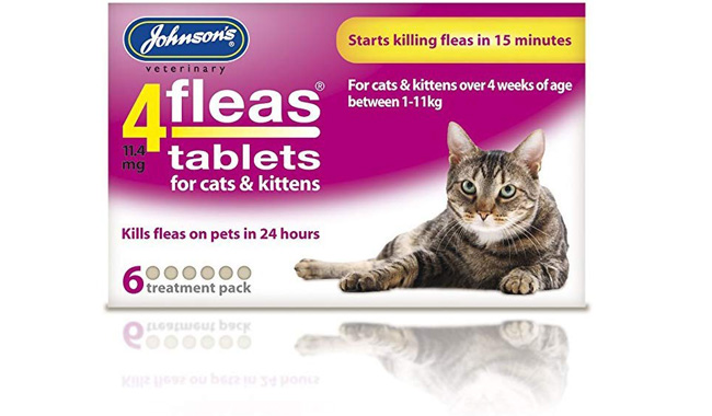 Johnsons 4fleas Tablets for Cats and Kittens, 6 Treatments