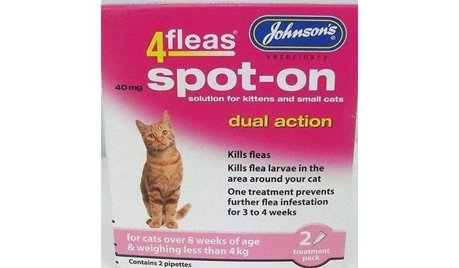 Johnson's Cat Kitten 4 fleas Dual Action Spot-on Solution