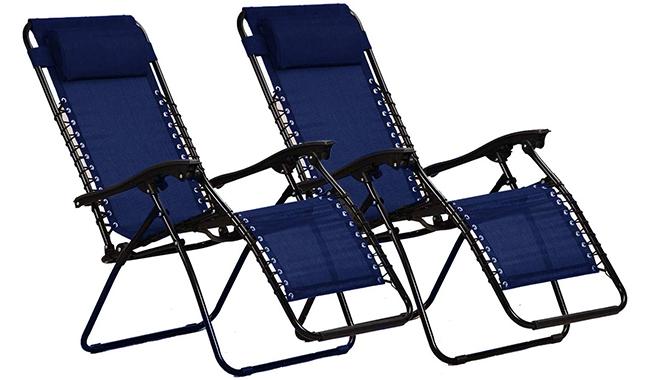 KEPLIN Heavy Duty Textoline Zero Gravity Chairs