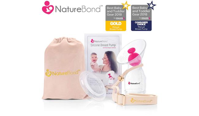 NatureBond Silicone Manual Breast Pump