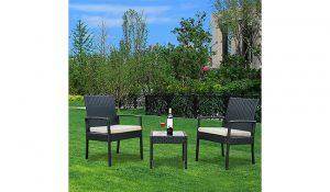 YOUKE Rattan Wicker Garden Furniture Set
