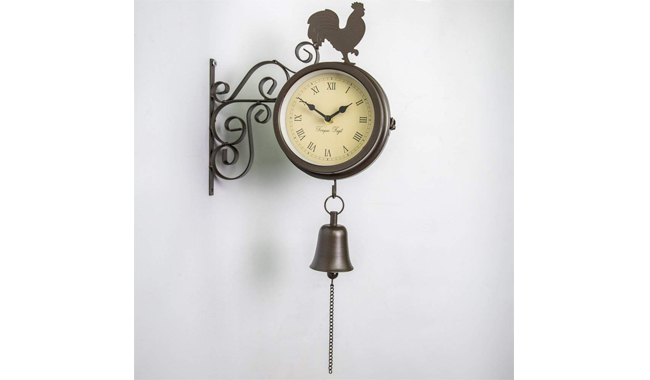 About Time Bracket Mounted Garden Outdoor Clock