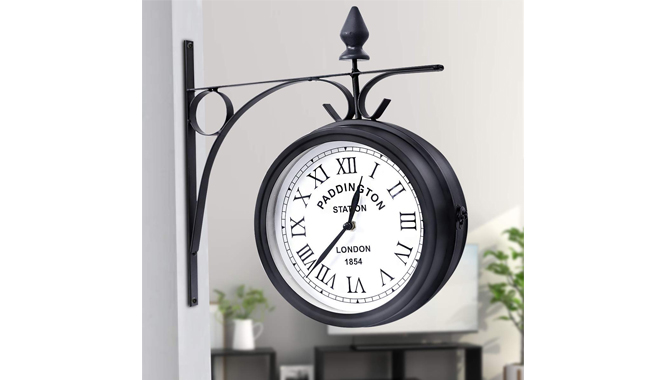 Costway Double Sided Wall Clock