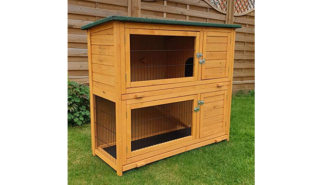 FeelGoodUK Rabbit Hutch with Rain Cover