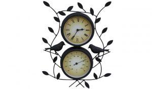 Garden Market Place Leaf & Bird Design Decorative Garden Clock