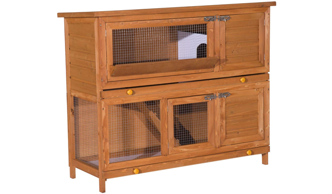 PawHut Wooden Rabbit Hutch