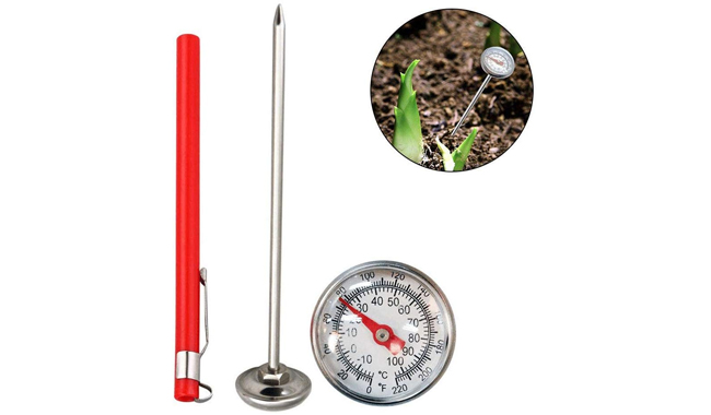 Wood.L Garden Soil Thermometer
