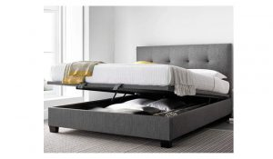 Happy Beds Yorkie Grey Fabric Modern Bed
