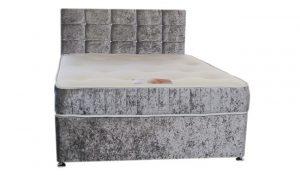 Just Beds Divan velvet Bed