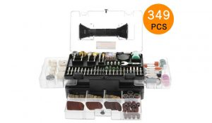 Meterk 349pcs Multi-Functional Rotary Tool Kit