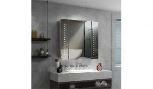 Quavikey Illuminated Bathroom Mirror Cabinet