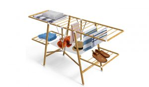 VOUNOT Wood Imitation Clothing Airer
