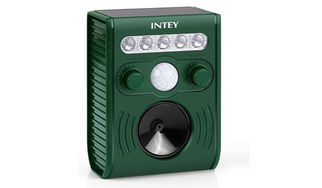 INTEY Ultrasonic Solar Powered Repellent