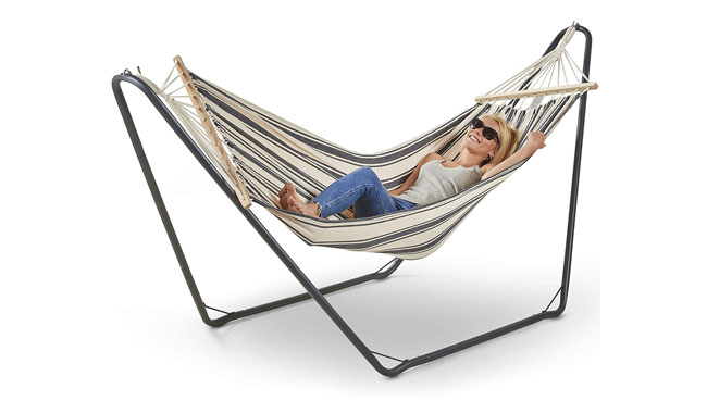 VonHaus Single Hammock with Metal Frame