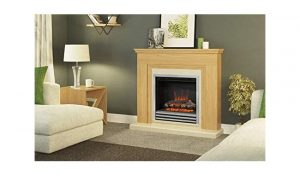 BeModern Stanton Eco Electric Fireplace Natural Oak