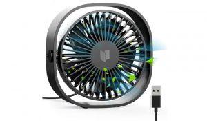 Ratel Black USB Mini Desk Fan