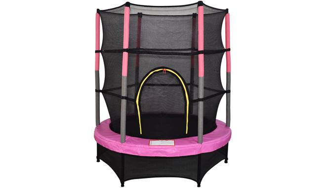 Green Bay 55inch 4.5ft Kid Indoor Outdoor Trampoline Set With Skirt And Safety Net