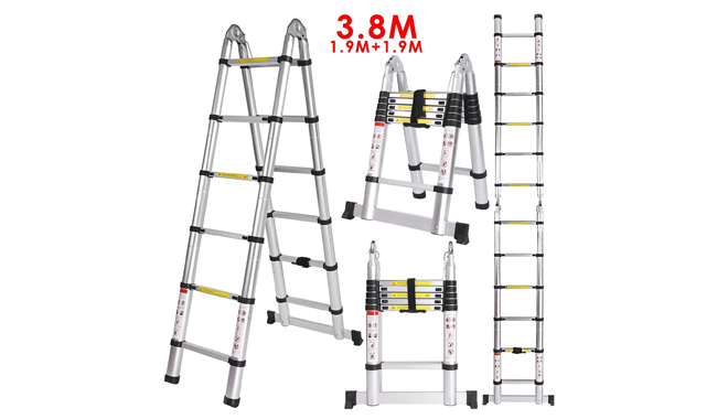Homdox Aluminum Telescopic Ladder
