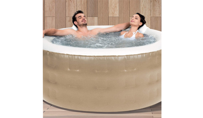 LIVIVO Inflatable Outdoor Hot Tub