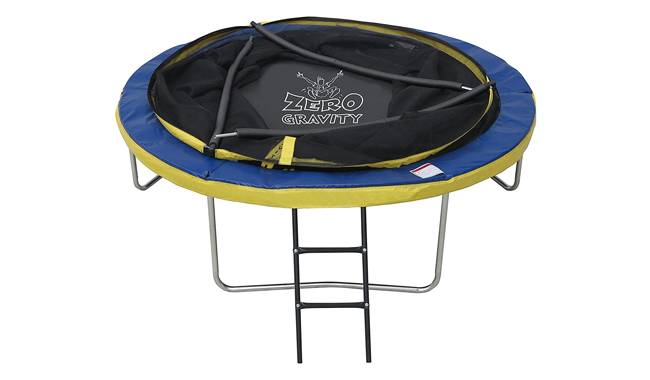 Zero gravity ultima 4high spec trampoline with safety enclosure netting and ladder