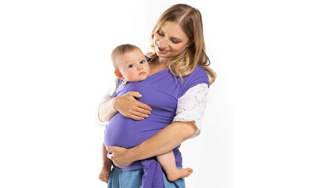 Boba Newborn Purple Stretchy Baby Sling