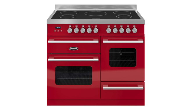 Britannia RC-10XGI-DE-RED Delphi 100cm Induction Range Cooker